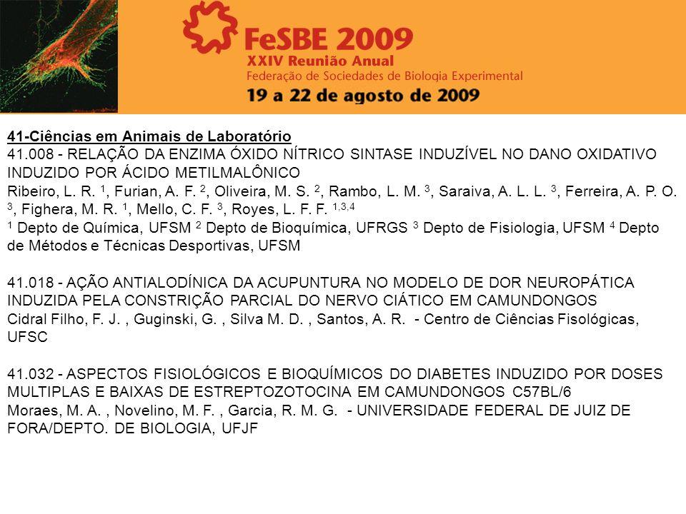 41-Ciências em Animais de Laboratório 41.008 - RELAÇÃO DA ENZIMA ÓXIDO NÍTRICO SINTASE INDUZÍVEL NO DANO OXIDATIVO INDUZIDO POR ÁCIDO METILMALÔNICO Ri