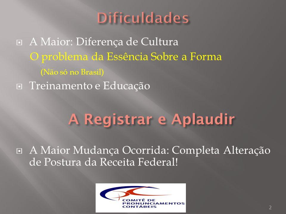 CPC 27 – No Brasil, vedada a reavaliação do imobilizado que o IASB expressamente não recomenda mas aceita.