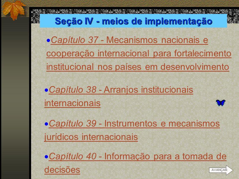 Seção IV - meios de implementação Capítulo 36 - Promoção do ensino, da conscientização e do treinamento Capítulo 36 - Promoção do ensino, da conscient