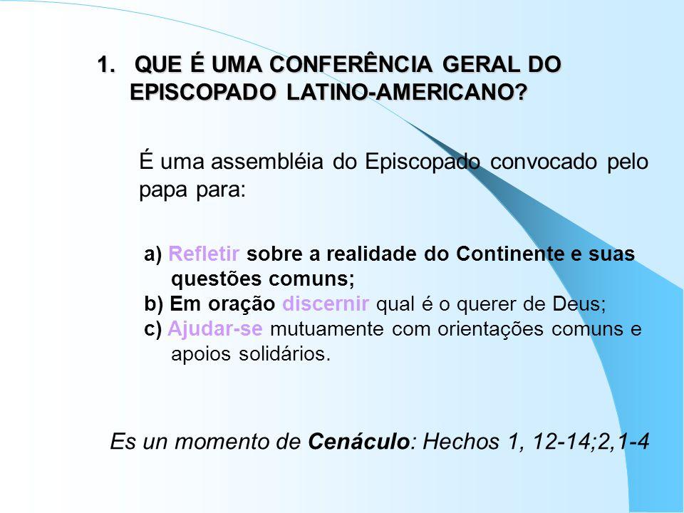 1.1.Quantas Conferências tivemos. II. MEDELLÍN (1968) III.
