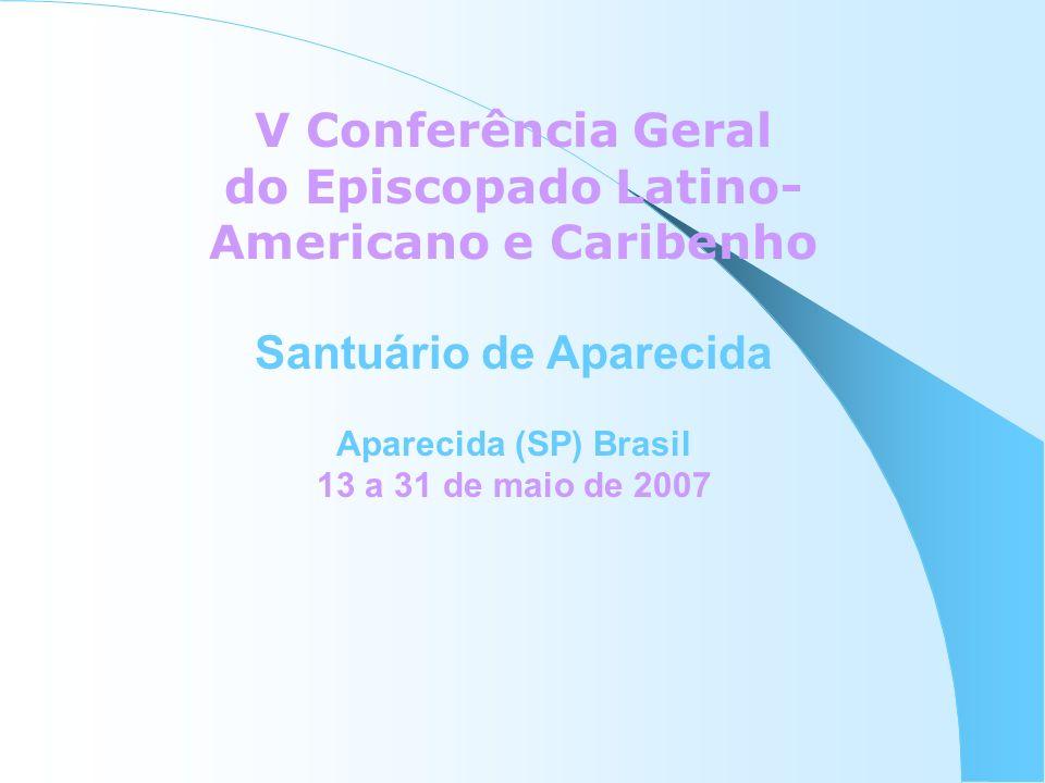 PROCESSO DA VCG SOLICITADA NA ASSEMBLÉIA DO CELAM DE CARACAS 2001 CONFIRMADA NA ASAMBLÉIA DE TUPARENDA EM 2003, PEDIDO OFICIAL QUADRIÊNIO DO CELAM 2003 – 2007 TEM A TAREFA DE PREPARÁ-LA