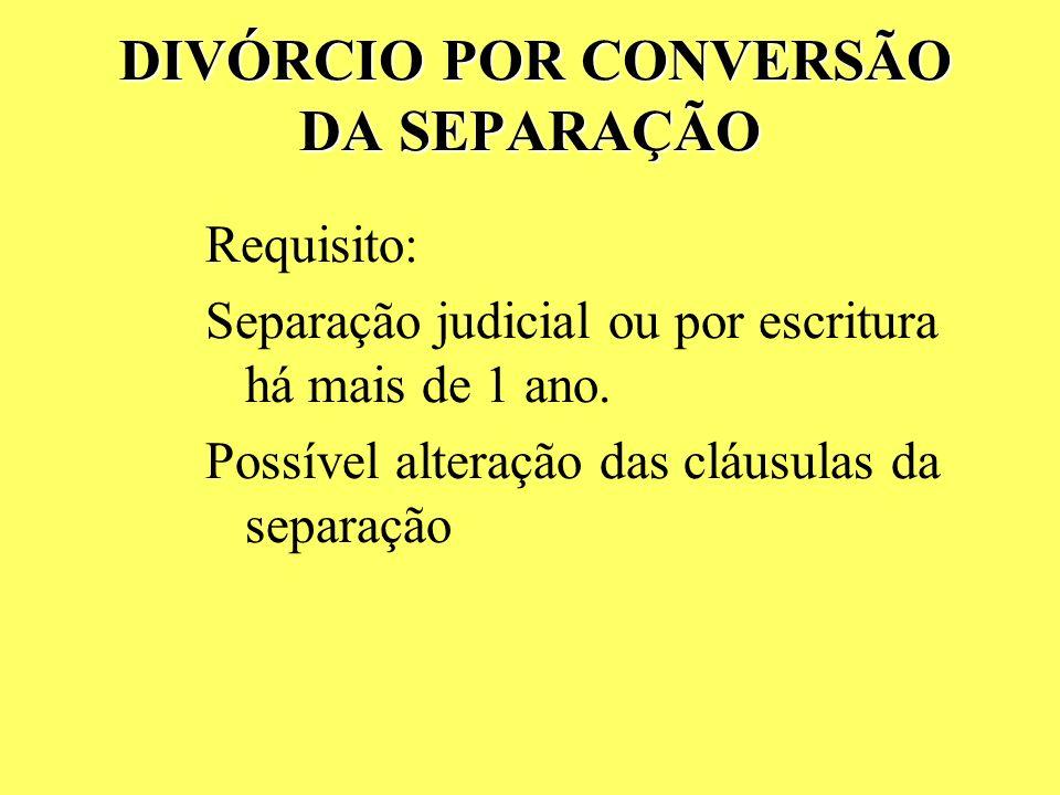 D DD DIVÓRCIO direto Requisitos: 2 anos contínuos de separação de fato Comprovação por documentos e testemunhas (declarações na escritura) Conteúdo: P