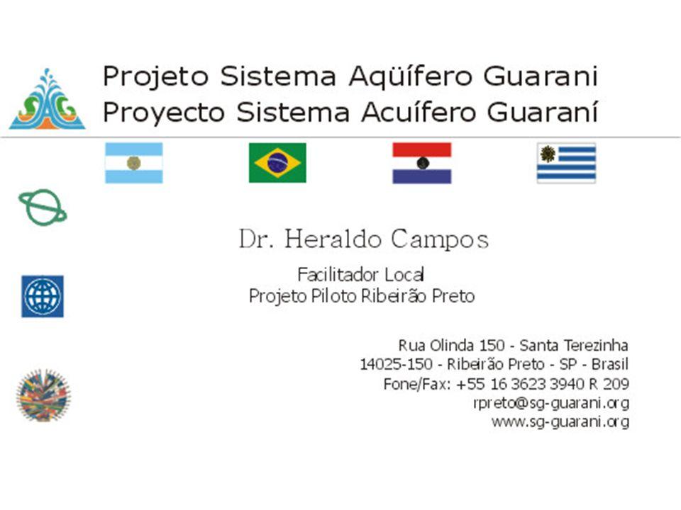 QUADRO HIDROGEOLÓGICO A região de Ribeirão Preto está situada na zona Nordeste do Estado de São Paulo, Brasil, e a sua escolha como área piloto (Figura 1) foi majoritariamente apoiada pelos especialistas dos organismos que integram a Unidade Estadual de Preparação do Projeto do Estado de São Paulo (UEPP/SP).