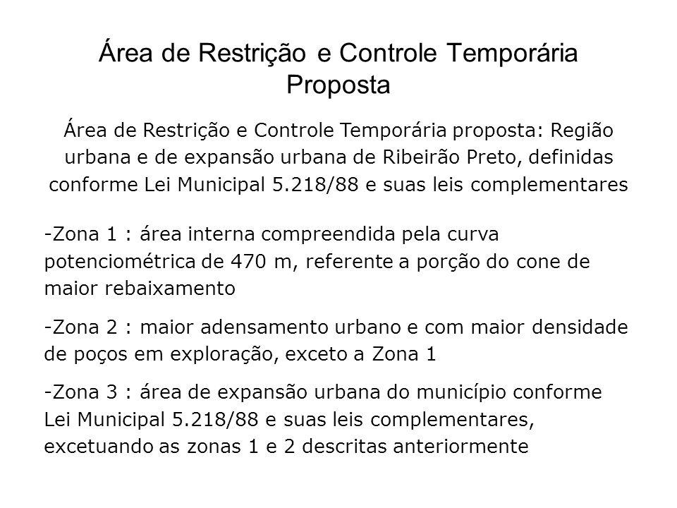 Área de Restrição e Controle Temporária Proposta Área de Restrição e Controle Temporária proposta: Região urbana e de expansão urbana de Ribeirão Pret
