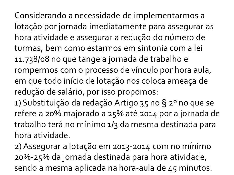 - LOTAÇÃO POR JORNADA DE TRABALHO VAI OBRIGAR O PROFESSOR A PERMANECER TODOS OS DIAS NA ESCOLA.