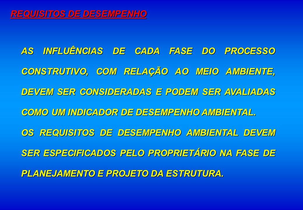AS INFLUÊNCIAS DE CADA FASE DO PROCESSO CONSTRUTIVO, COM RELAÇÃO AO MEIO AMBIENTE, DEVEM SER CONSIDERADAS E PODEM SER AVALIADAS COMO UM INDICADOR DE D