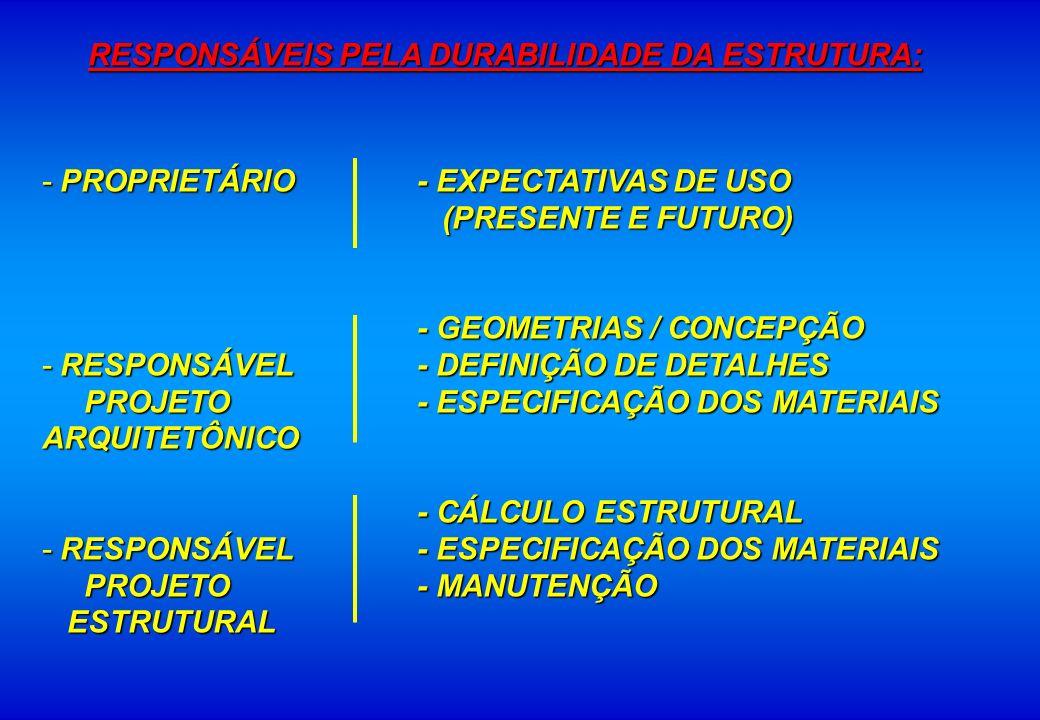 - PROPRIETÁRIO - EXPECTATIVAS DE USO (PRESENTE E FUTURO) (PRESENTE E FUTURO) - GEOMETRIAS / CONCEPÇÃO - RESPONSÁVEL- DEFINIÇÃO DE DETALHES PROJETO - E