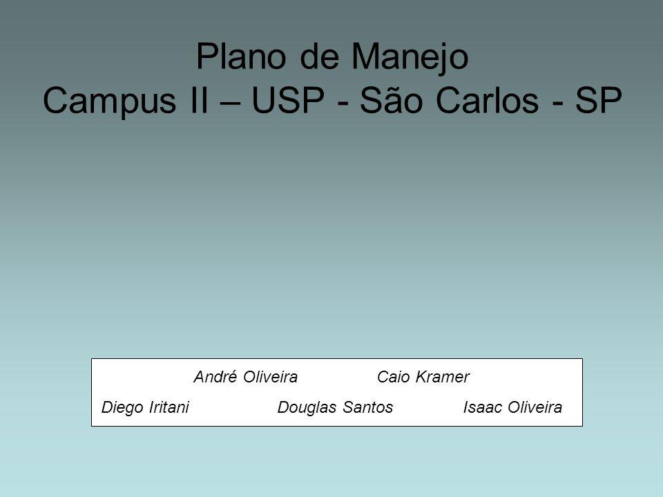 Plano de Manejo Campus II – USP - São Carlos - SP André Oliveira Caio Kramer Diego Iritani Douglas Santos Isaac Oliveira