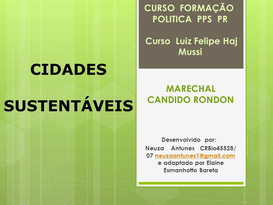CURSO FORMAÇÃO POLITICA PPS PR Curso Luiz Felipe Haj Mussi MARECHAL CANDIDO RONDON Desenvolvido por: Neuza Antunes CRBio45528/ 07 neuzaantunes1@gmail.