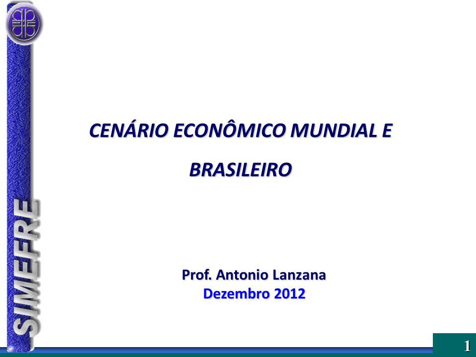 1 Prof. Antonio Lanzana Dezembro 2012 CENÁRIO ECONÔMICO MUNDIAL E BRASILEIRO
