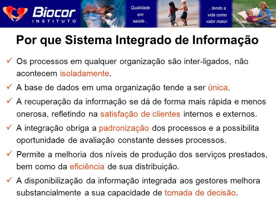 Por que Sistema Integrado de Informação Os processos em qualquer organização são inter-ligados, não acontecem isoladamente. A base de dados em uma org