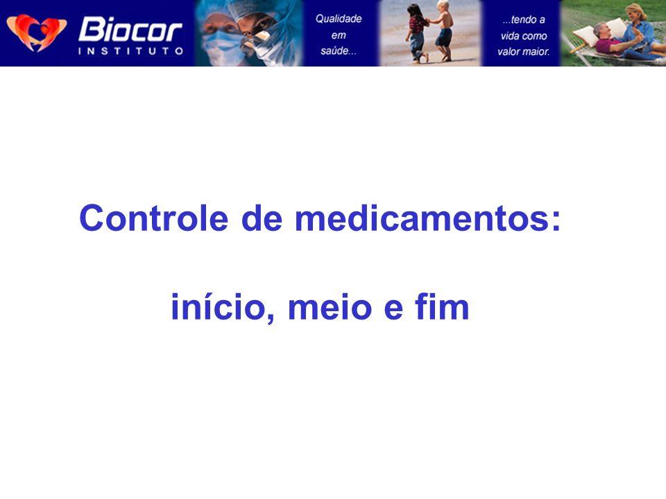 Controle de medicamentos: início, meio e fim