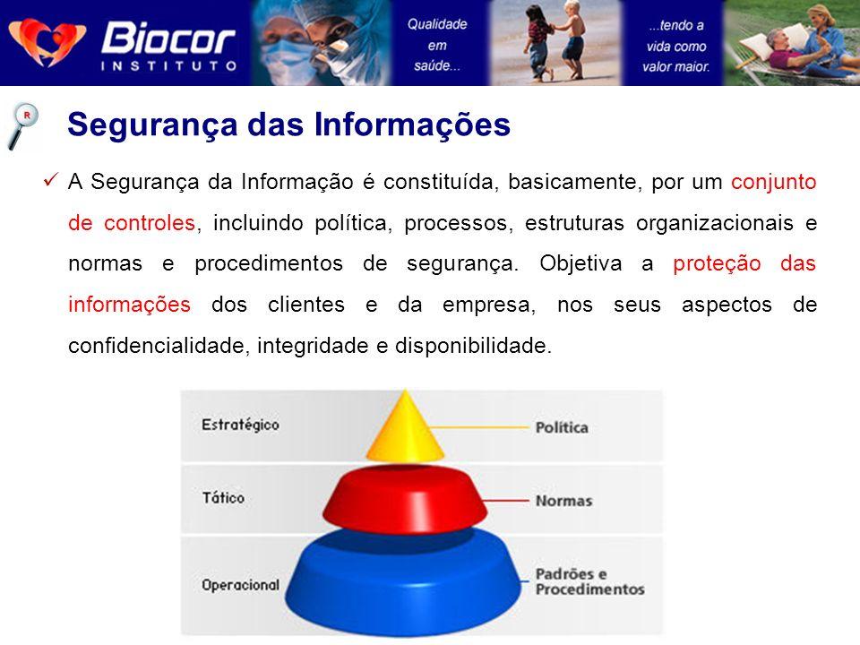 A Segurança da Informação é constituída, basicamente, por um conjunto de controles, incluindo política, processos, estruturas organizacionais e normas