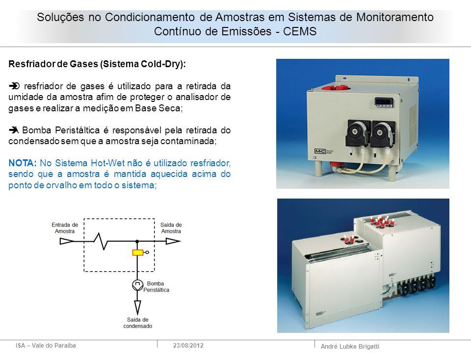 ISA – Vale do Paraíba23/08/2012 André Lubke Brigatti Resfriador de Gases (Sistema Cold-Dry): O resfriador de gases é utilizado para a retirada da umid