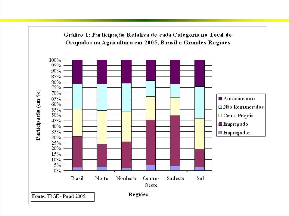 Hipótese Os movimentos gerais da agricultura brasileira no período recente provocaram uma polarização na qualidade do emprego, reforçando os fortes contrastes presentes neste importante setor econômico.