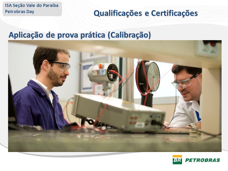 ISA Seção Vale do Paraíba Petrobras Day Aplicação de prova prática (Calibração) Qualificações e Certificações