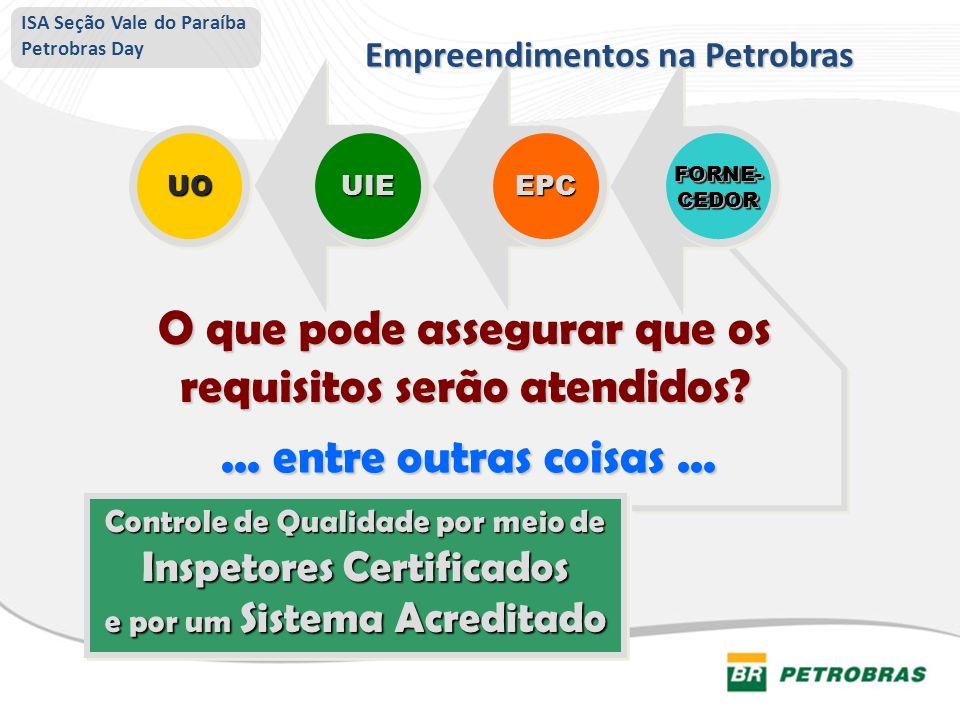 Controle de Qualidade por meio de Inspetores Certificados e por um Sistema Acreditado Controle de Qualidade por meio de Inspetores Certificados e por