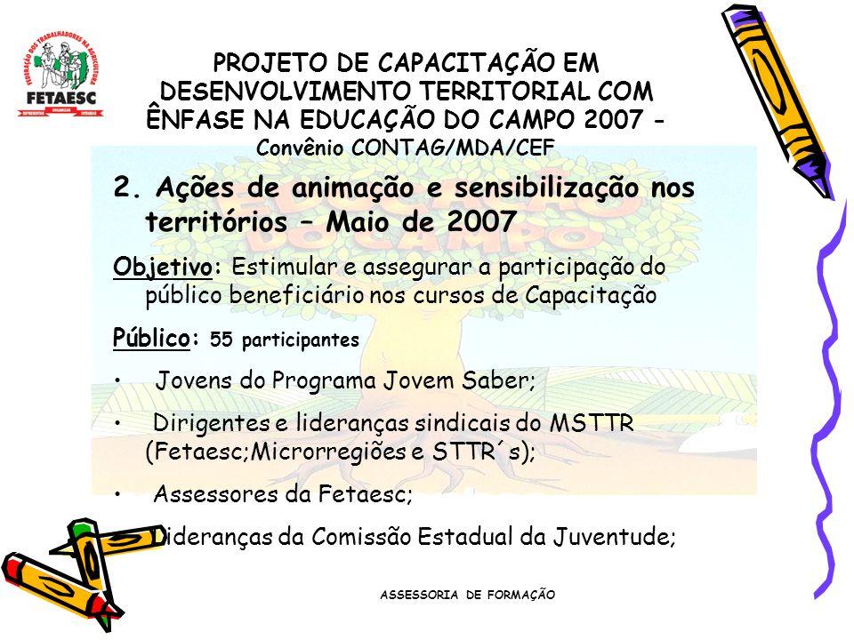 ASSESSORIA DE FORMAÇÃO 2.