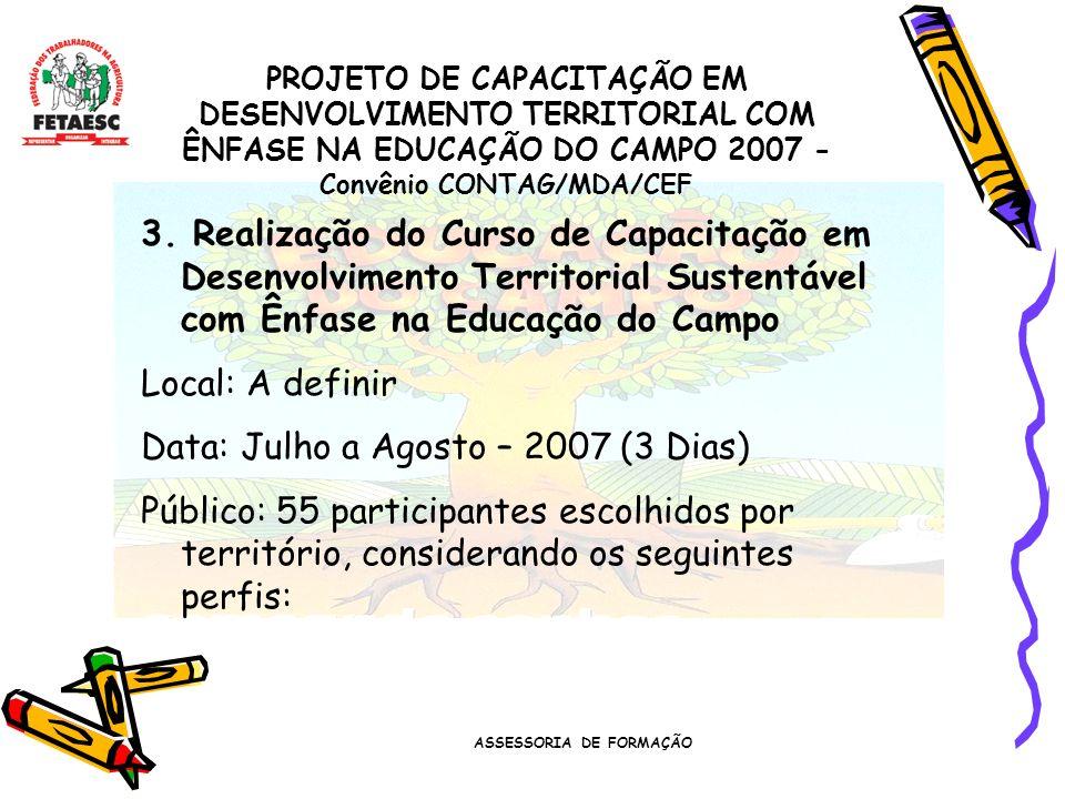 ASSESSORIA DE FORMAÇÃO 3.