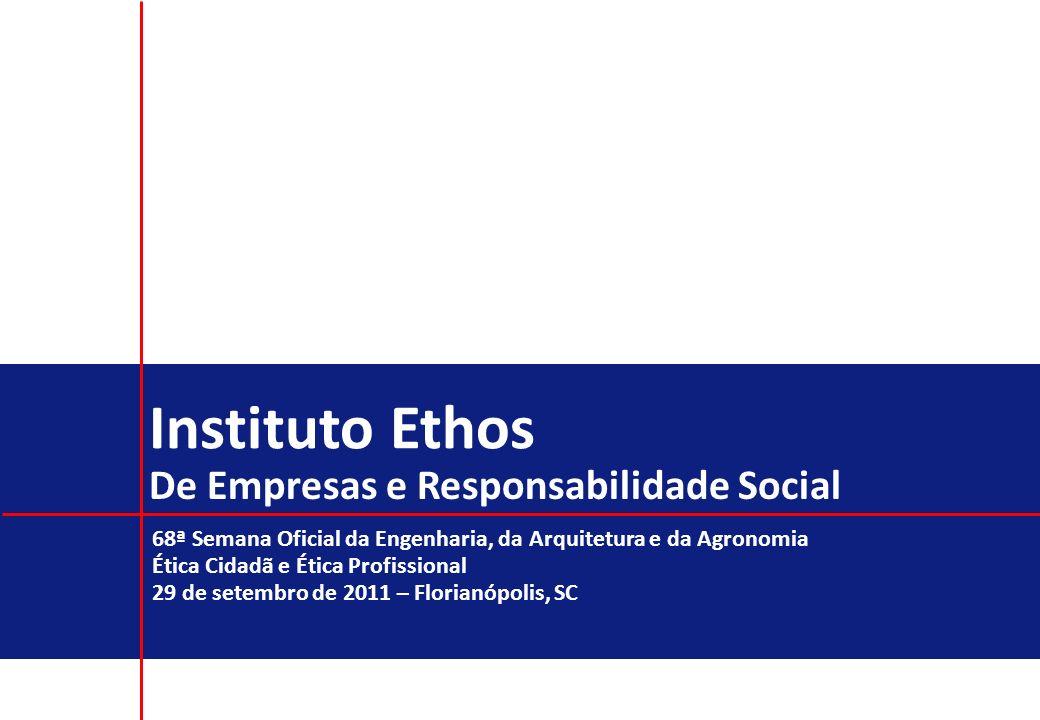 2 Missão do Instituto Ethos Mobilizar, sensibilizar e ajudar as empresas a gerir seus negócios de forma socialmente responsável, tornando-as parceiras na construção de uma sociedade sustentável e justa