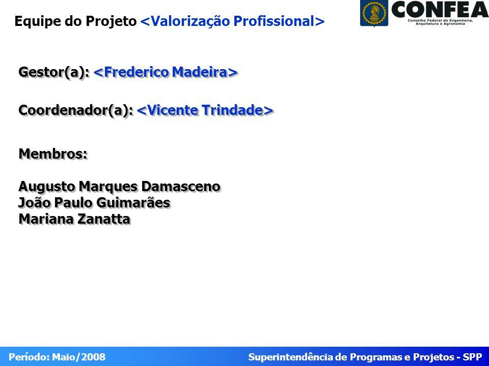 Superintendência de Programas e Projetos - SPP Período: Maio/2008 Portfólio 2010 Valorização Profissional