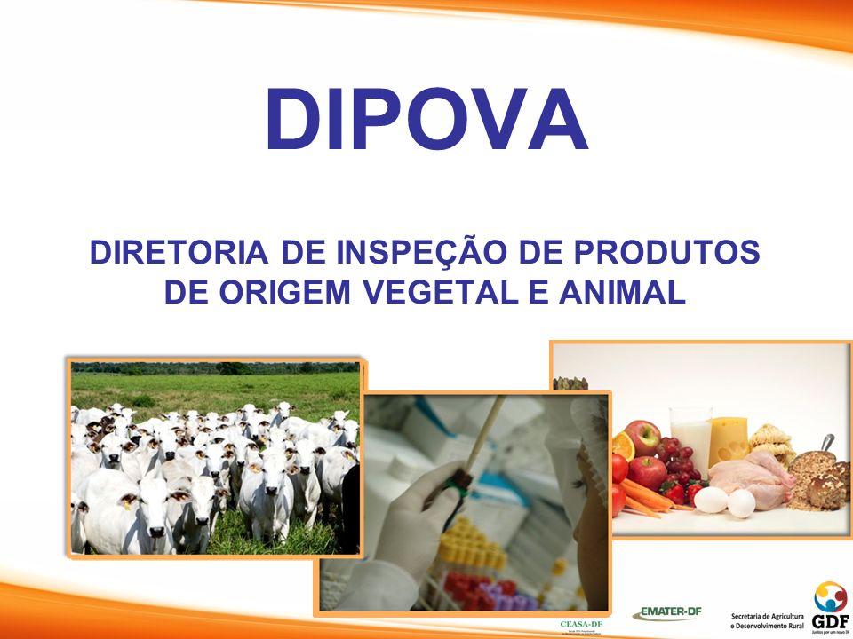 DIPOVA DIRETORIA DE INSPEÇÃO DE PRODUTOS DE ORIGEM VEGETAL E ANIMAL