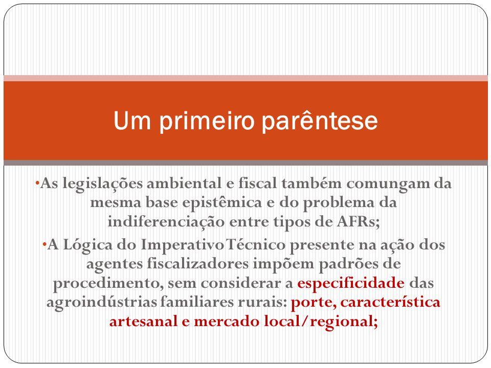 As legislações ambiental e fiscal também comungam da mesma base epistêmica e do problema da indiferenciação entre tipos de AFRs; A Lógica do Imperativ