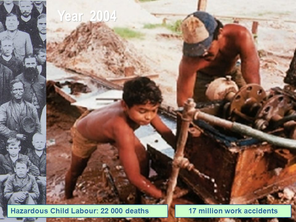 Year 2004 Hazardous Child Labour: 22 000 deaths17 million work accidents