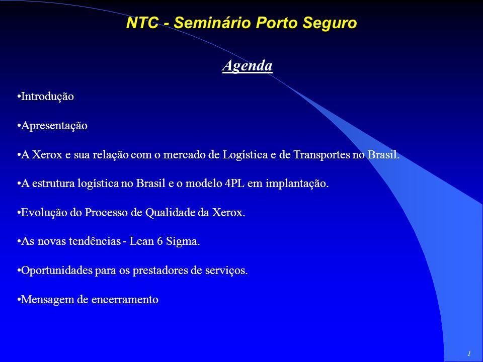 1 NTC - Seminário Porto Seguro Agenda Introdução Apresentação A Xerox e sua relação com o mercado de Logística e de Transportes no Brasil.