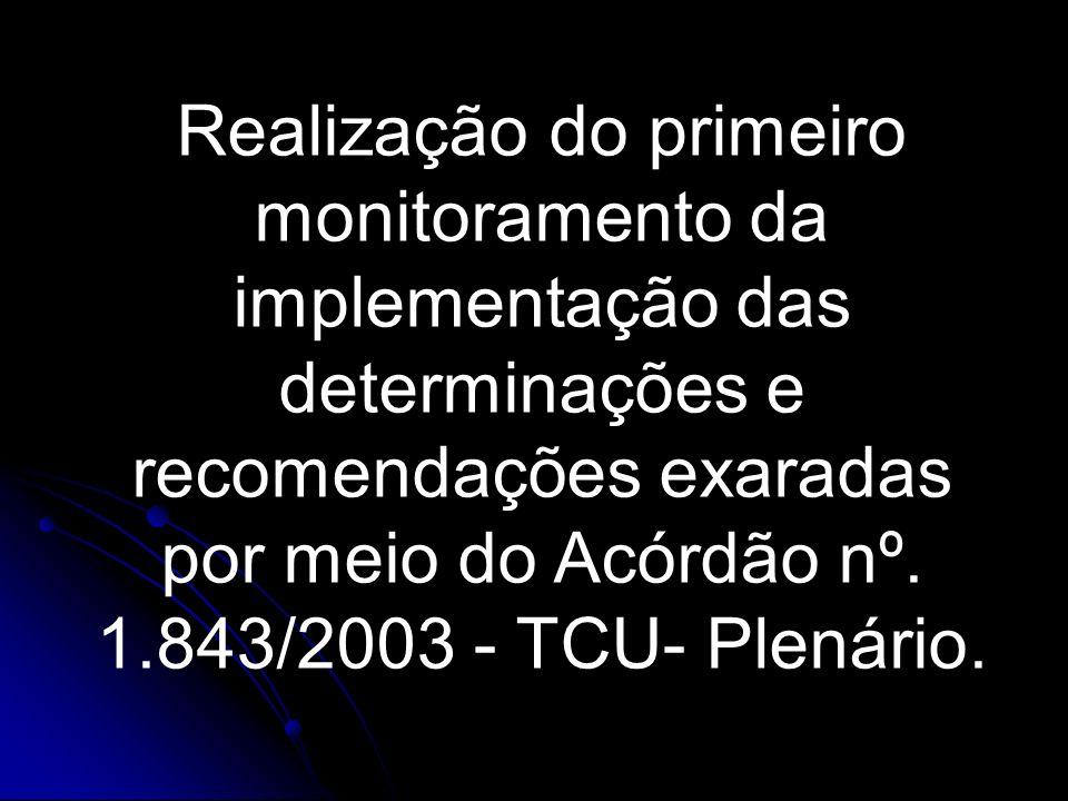 Acórdão 1843/2003 – Plenário Ementa Auditoria Operacional.