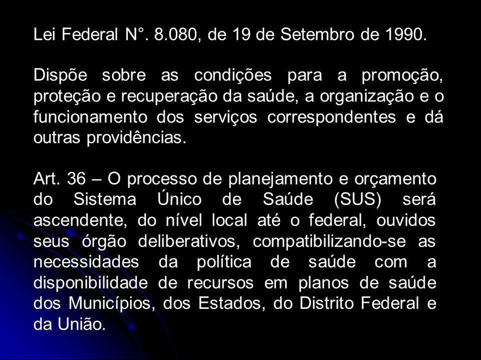 Lei Federal N°.8.080, de 19 de Setembro de 1990.