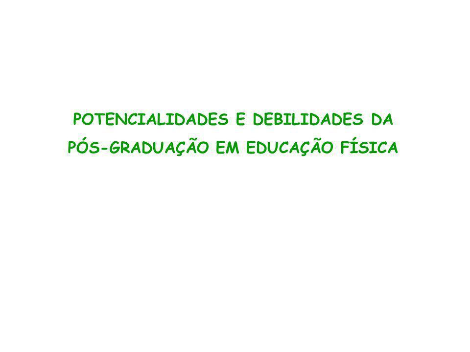 POTENCIALIDADES E DEBILIDADES DA PÓS-GRADUAÇÃO EM EDUCAÇÃO FÍSICA