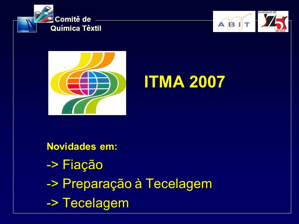 Comitê de Química Têxtil ITMA 2007 Novidades em: -> Fiação -> Preparação à Tecelagem -> Tecelagem