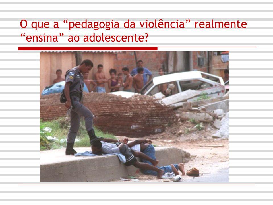 O que a pedagogia da violência realmente ensina ao adolescente?