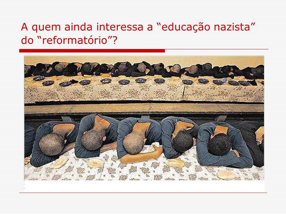 A quem ainda interessa a educação nazista do reformatório?