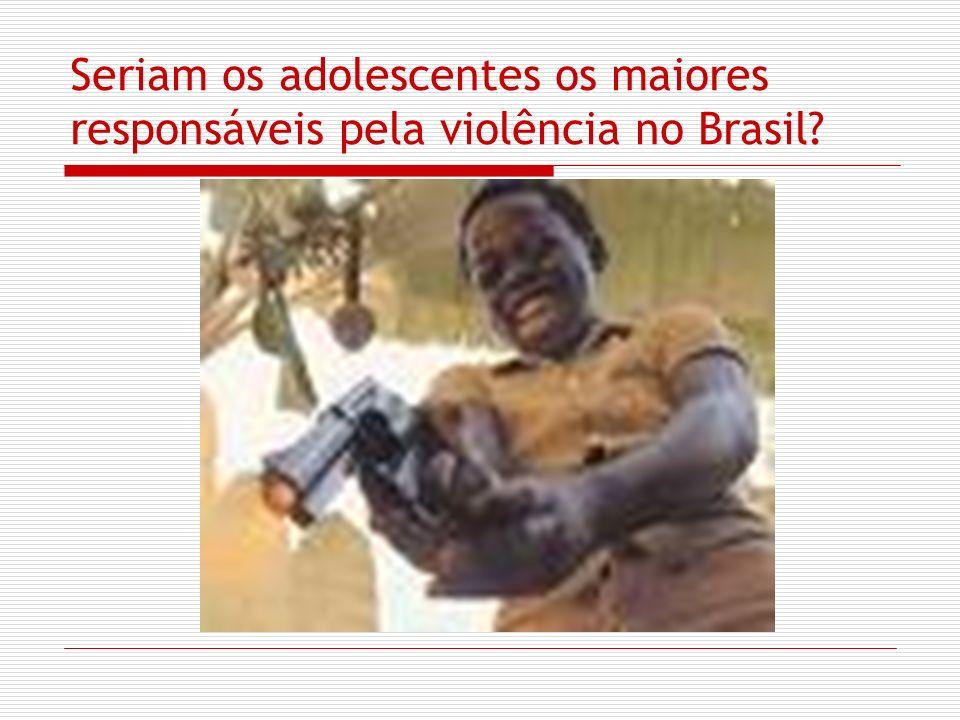Menores perigosos: Dados da violência dos adolescentes O levantamento estatístico da SEDH (2004) identificou que existiam no Brasil cerca de 39.578 adolescentes no sistema socioeducativo.