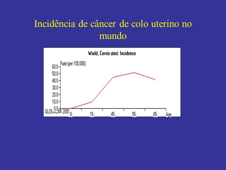 Incidência de câncer de colo uterino no mundo