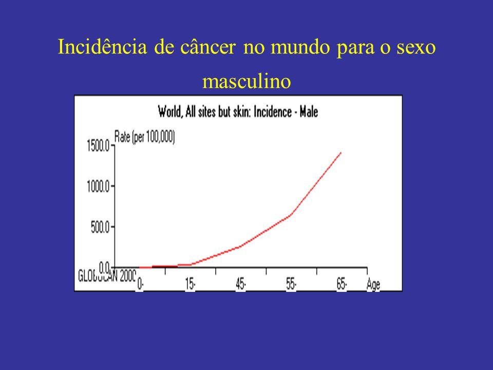 Incidência de câncer de pulmão padronizada por idade no sexo feminino 2000