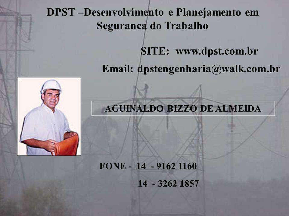 AGUINALDO BIZZO DE ALMEIDA Email: dpstengenharia@walk.com.br FONE - 14 - 9162 1160 14 - 3262 1857 DPST –Desenvolvimento e Planejamento em Seguranca do