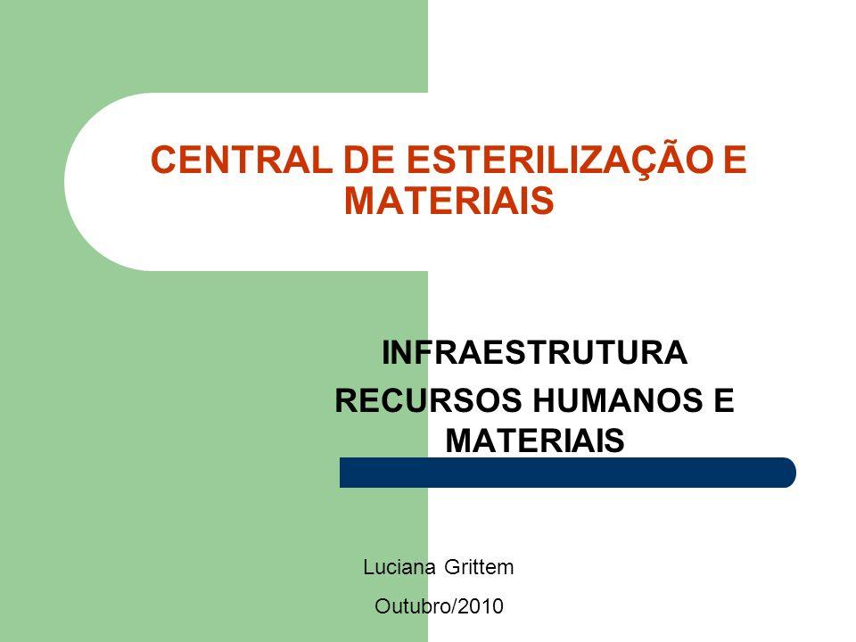 CENTRAL DE ESTERILIZAÇÃO E MATERIAIS INFRAESTRUTURA RECURSOS HUMANOS E MATERIAIS Luciana Grittem Outubro/2010