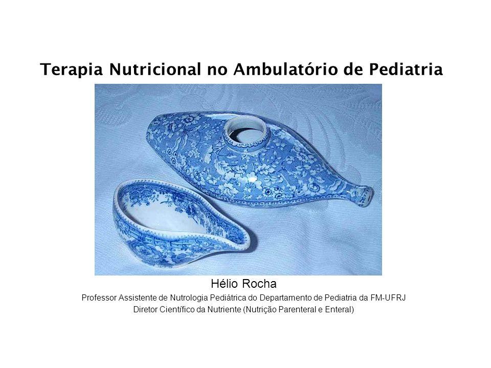 Terapia Nutricional no Ambulatório de Pediatria Hélio Rocha Professor Assistente de Nutrologia Pediátrica do Departamento de Pediatria da FM-UFRJ Dire