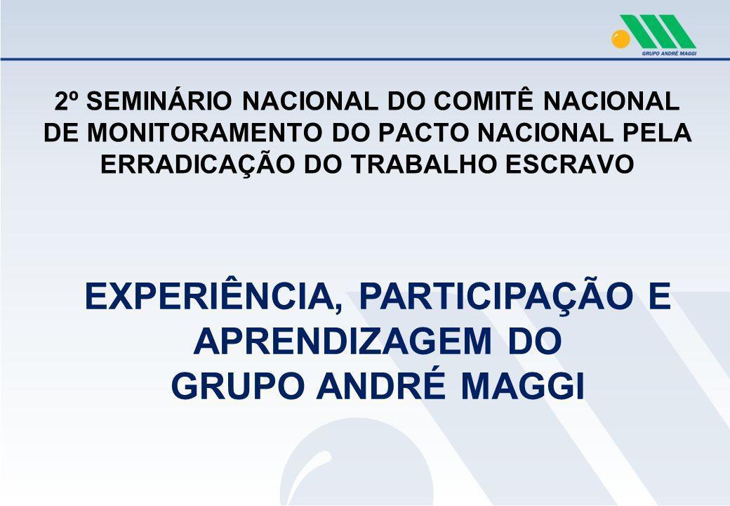 38 armazéns, 10 fazendas 3 indústrias e 2 portos Produtor Agrícola e Trading 3.100 colaboradores Uma empresa 100% brasileira