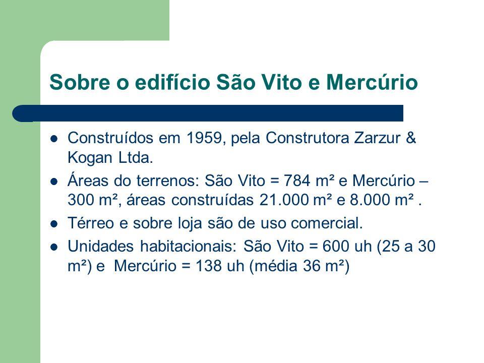 Laudo da estrutura do São Vito Conforme o laudo datado de 1º de março de 2004, contratado pela COHAB-SP, elaborado pela Concremat Engenharia e Tecnologia S.A., assinado pelos seus engenheiros Rosana C.