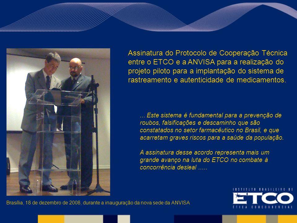 ... Este sistema é fundamental para a prevenção de roubos, falsificações e descaminho que são constatados no setor farmacêutico no Brasil, e que acarr