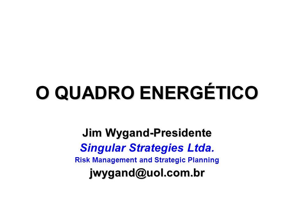 O QUADRO ENERGÉTICO Jim Wygand-Presidente Singular Strategies Ltda. Risk Management and Strategic Planningjwygand@uol.com.br
