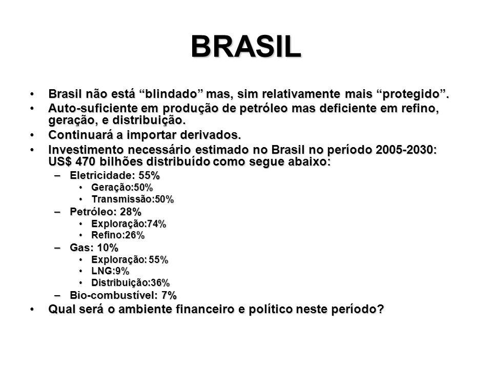 BRASIL Brasil não está blindado mas, sim relativamente mais protegido.Brasil não está blindado mas, sim relativamente mais protegido. Auto-suficiente