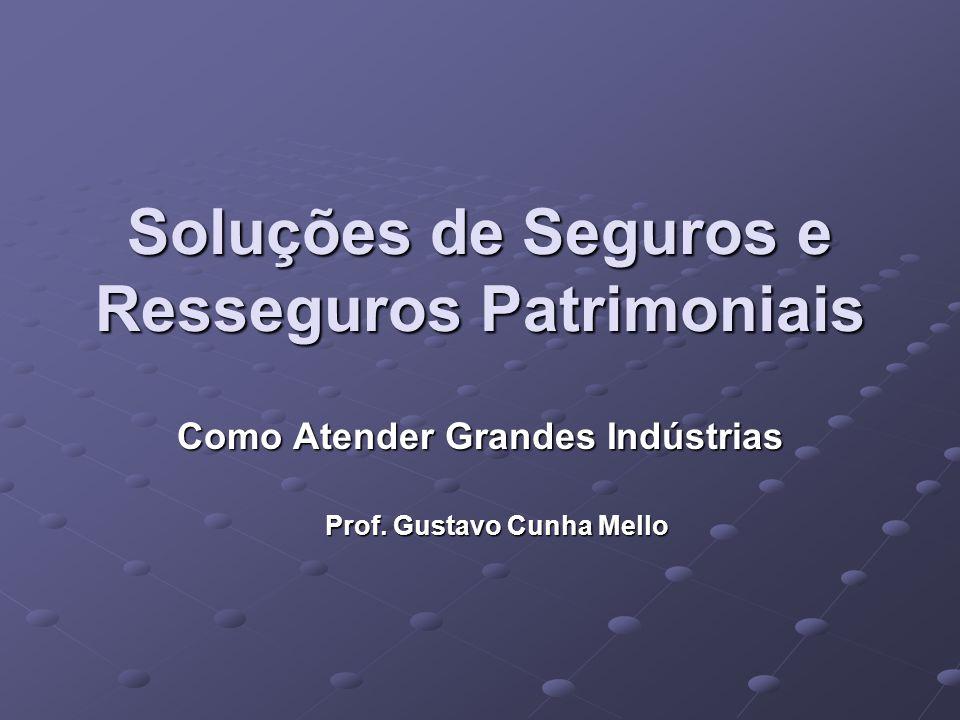 Soluções de Seguros e Resseguros Patrimoniais Como Atender Grandes Indústrias Prof. Gustavo Cunha Mello