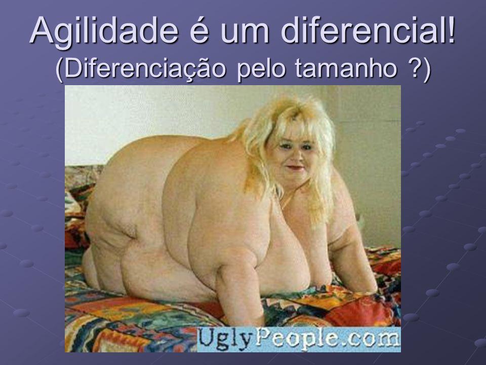 Agilidade é um diferencial! (Diferenciação pelo tamanho ?)