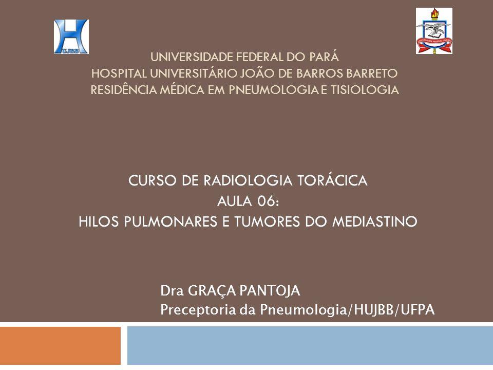 UNIVERSIDADE FEDERAL DO PARÁ HOSPITAL UNIVERSITÁRIO JOÃO DE BARROS BARRETO RESIDÊNCIA MÉDICA EM PNEUMOLOGIA E TISIOLOGIA CURSO DE RADIOLOGIA TORÁCICA