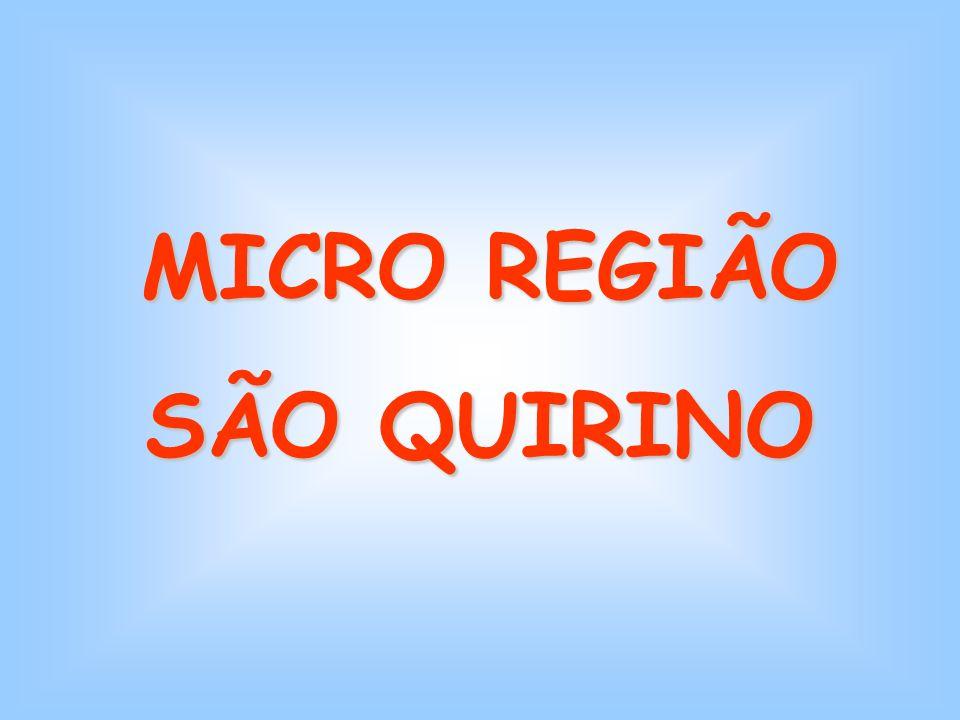 MICRO REGIÃO MICRO REGIÃO SÃO QUIRINO